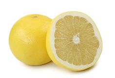 White grapefruits Royalty Free Stock Images