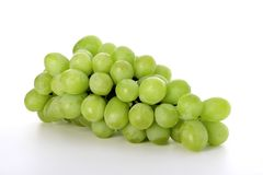 White grapes. Isolated on a white background Royalty Free Stock Photo