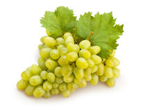 White grapes. On white background Royalty Free Stock Photography