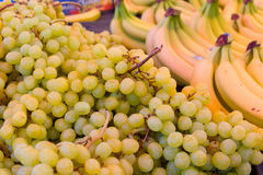 White grapes and bananas Stock Image