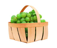 White grapes in a basket Royalty Free Stock Photography