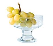 White grapes in bowl with clipping path Stock Photos