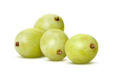 White Grapes  with clipping path Stock Photo