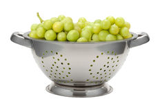White Grapes in a Colander Royalty Free Stock Photo