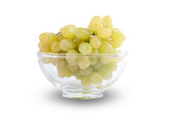 White grapes in glass bowl Royalty Free Stock Images