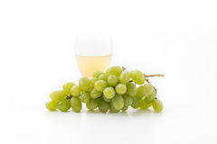White grapes juice stock images