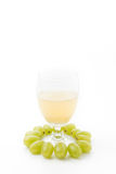 White grapes juice Stock Photography