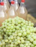 White grapes for sale Stock Photos