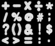 White grass symbols mathematics Stock Photos