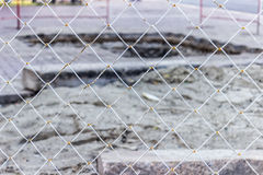 White grate with blurred background construction Stock Photography