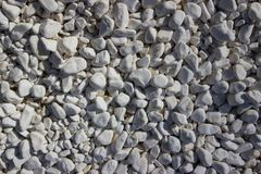 White Gravel Stones, Pattern, Texture, royalty free stock photography