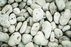 White gravel texture or background Royalty Free Stock Photos