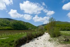 White gravel unpaved road Royalty Free Stock Images