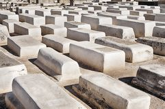White Graves In Marrakesh Cemetery royalty free stock images