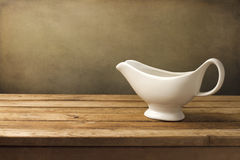White gravy boat Royalty Free Stock Photos