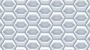 White gray abstract hexagonal background. 3D Royalty Free Stock Image