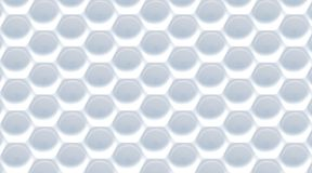 White gray abstract hexagonal background. 3D Stock Image