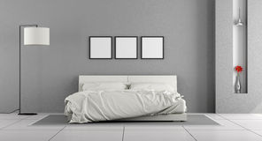 White and gray bedroom Royalty Free Stock Images