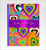 Valentine`s day love. 2019 educational notebook vector illustration