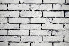White brick wall for background and texture royalty free stock photography