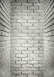 White and gray brick wall end of the corridor, abstract backgrou Royalty Free Stock Image