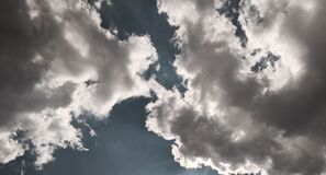 White and Gray Clouds Royalty Free Stock Photography