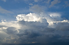 White and gray clouds in blue sky. Royalty Free Stock Photo