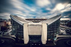 White and Gray Concrete Stadium Royalty Free Stock Image