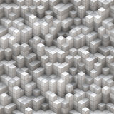 White and gray cubes. 2D rendered image of white and gray cubes Royalty Free Stock Photos