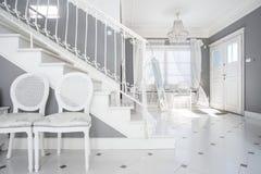 White and gray design Stock Photos