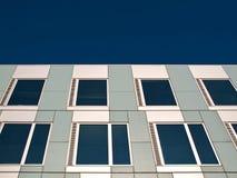 White and gray facade. Stock Photos