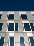 White and gray facade. Royalty Free Stock Photography