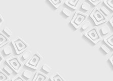 White and gray geometric pattern abstract background template. White and gray geometric pattern abstract background for website, banner, business card Royalty Free Stock Image