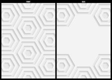 White and gray geometric pattern abstract background template Stock Photography