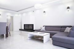 White and gray interior Stock Photo