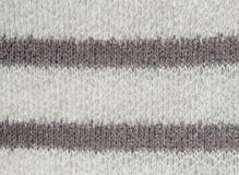 White and gray knit material - up close abstract background Stock Images