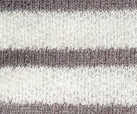 White and gray knit material - up close abstract background Stock Photo