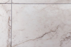 White, Gray Marble like Ceramic Tile Stock Photo