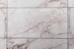 White, Gray Marble-like Ceramic Tile Royalty Free Stock Photography
