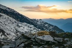 White and Gray Mountains Royalty Free Stock Images