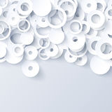 White and gray 3d paper abstract background. For website, banner, business card, invitation Royalty Free Stock Photos