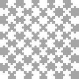 White-gray puzzle background, vector illustration Stock Photography