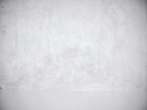 White Gray Stucco Concrete Wall and Floor Copy Space Background. 3d rendering Stock Images