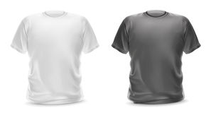 White and gray t-shirts. Vector  objects Royalty Free Stock Photos