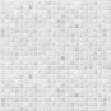 White or gray tile wall background Stock Images