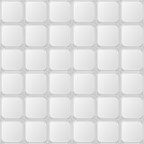 White Gray Tille Seamless Pattern with Shiny Square Elements Royalty Free Stock Image