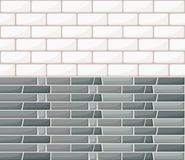 White and gray wall brick background. Rustic blocks texture template. Seamless pattern. Vector illustration of building block. Web. Site page and mobile app Stock Photography