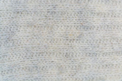 White and gray weave wool yarn closeup Royalty Free Stock Photo