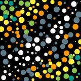 White-Gray-Yellow-Green Dots Background. Colorful dots background and wallpaper theme vector illustration