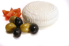 White greece cheese and olives Stock Photography
